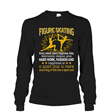 4cd3986ddac8 Mazoli Figure Skating Cool T Shirt Design - Figure Skating Sport Tee Shirt  Long Sleeve (