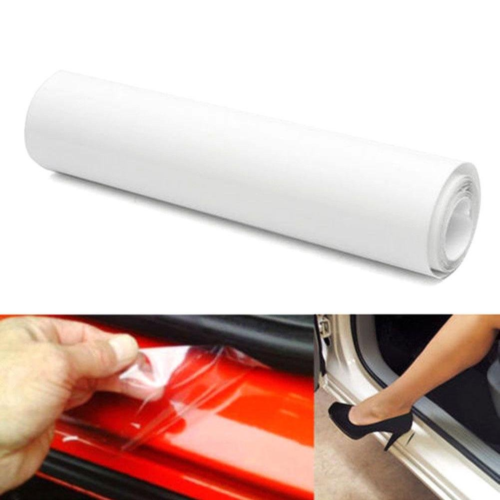 RUNMIND Car Door Vinyl Film Sheet Sill Edge Anti Scratch Paint Protection 118' x 4' Clear