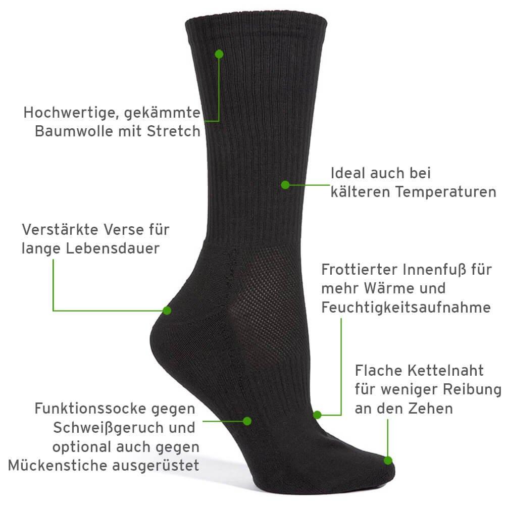 Safersox Mückenschutz-Socken für tagelanges Tragen ohne Waschen