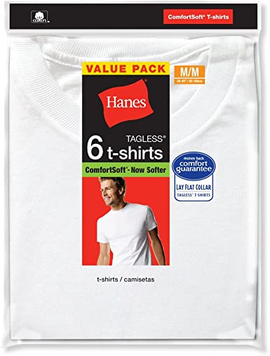 Hanes Mens White Crew Neck 6-Pack (2135P6): Amazon.es: Ropa y accesorios