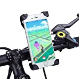 Bike Phone Mount Holder, WOTOW Universal Smart phone Adjustable Cradle Clamp 360 Degrees Rotatable Bicycle Handlebar Motorcycle Rack for 3.5-7 inch Cell Phone GPS iPhone Samsung Galaxy HTC Phones