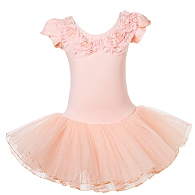 bc0ad158c5b Lisianthus Girls Ballet Leotard Tutu Skirt Dancing Dress Short Sleeve 3-4T