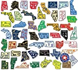 51-Piece Complete State Map Magnet Collection