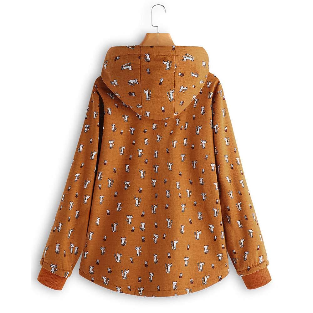 BaZhaHei Abrigo Invierno Mujer Chaqueta Suéter Jersey Mujer Cardigan Mujer  Tallas Grandes Outwear Floral Bolsillos con ... fec90007f7c07