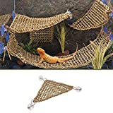 3 Pcs Reptile Hammock Lizard Lounger, 100 Natural Seagrass Fibers for Lizard, Bearded Dragons, Geckos, Iguanas, and Hermit Crabs