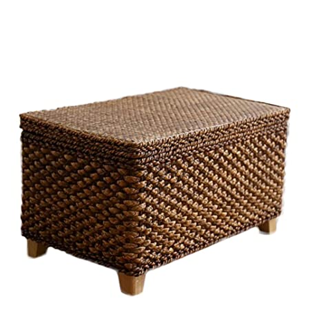 Incredible Amazon Com Storage Cube Ottoman Seagrass Wicker Footstool Creativecarmelina Interior Chair Design Creativecarmelinacom