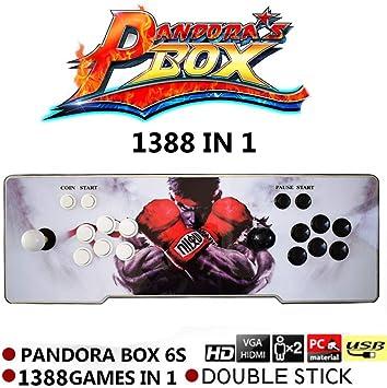 supertop 1388 en 1 Caja de Pandora 6s Retro Video Games Arcade ...