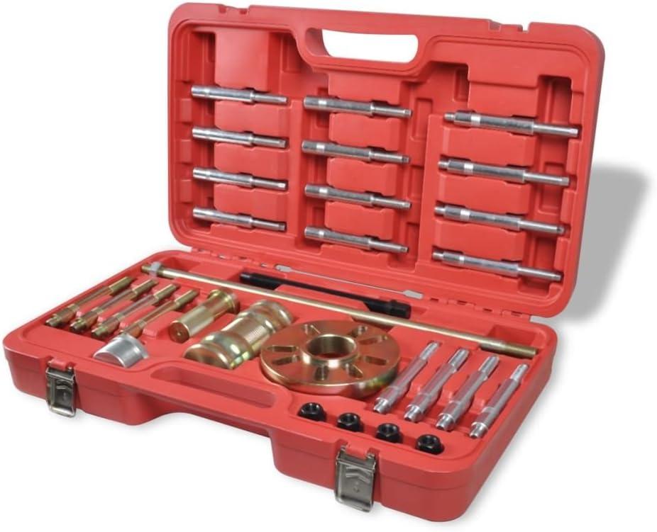 vidaXL Juego de Extractores Eje Rueda 30 Piezas Set de Extractor Profesional