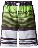 U.S. Polo Association Big Boys' Striped Board Shorts with Contrast Panels