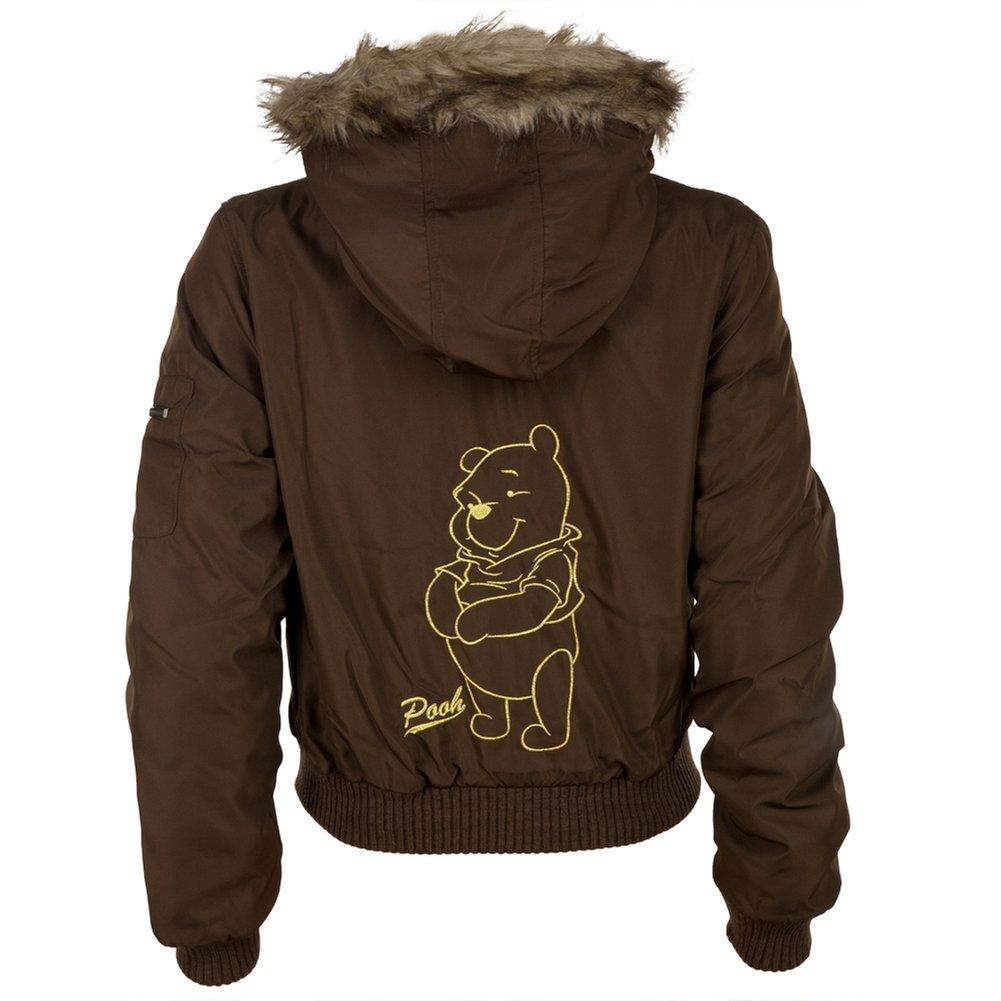 552bc00030bd Winnie The Pooh - Cute Crest Juniors Jacket Brown Medium at Amazon Women s  Coats Shop