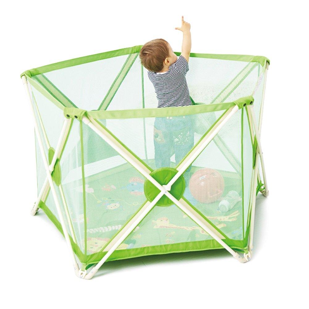 子供のゲームフェンスベビーセーフティフェンスフェンスベビーフェンス折りたたみ式屋内ベビーステップバー   B07FLF62W7