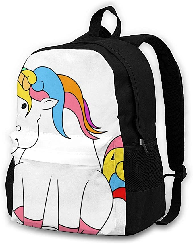 SLHFPX Large Backpack Cartoon Cute Ice Cream Popsicle Multicolor Laptop Travel School College Backpacks Bag