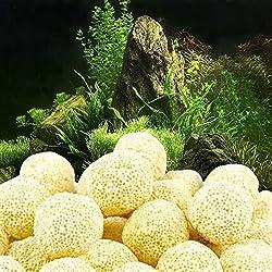 Clearance Sale!DEESEE(TM)Aquarium Porous Ceramic Filter Media Net Bag Biological Ball Fish Tank (A)