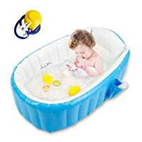 Baby Inflatable Bathtub, Goodking Portable Infant Toddler Bathing Tub Non Slip Travel...