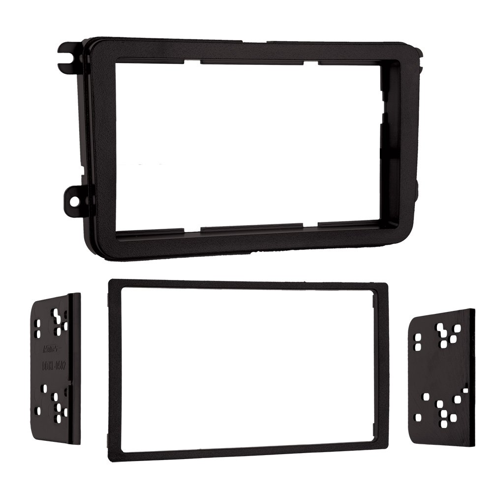 Metra95-9011B Double DIN Mount Kit for 2005-Up Volkswagen Vehicles, (Matte black)