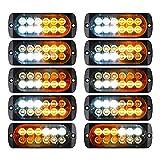 Wilove 10pcs Strobe Lights -Emergency Hazard