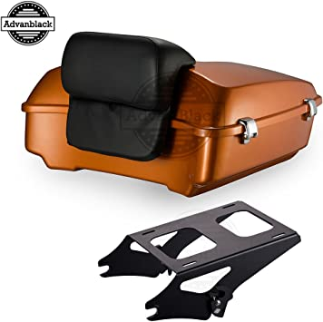 Orange Stitch Tour Pack Backrest Pad Fit for 2014-2019 Harley Touring Street Glide Special Road Glide Road King Electra Glide Ultra Classic//Advanblack Tour-Pak Luggage