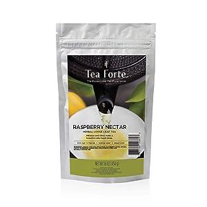 Tea Forte Raspberry Nectar Loose Bulk Tea, 1 Pound Pouch, Organic Herbal Tea Tea Makes 160-170 Cups