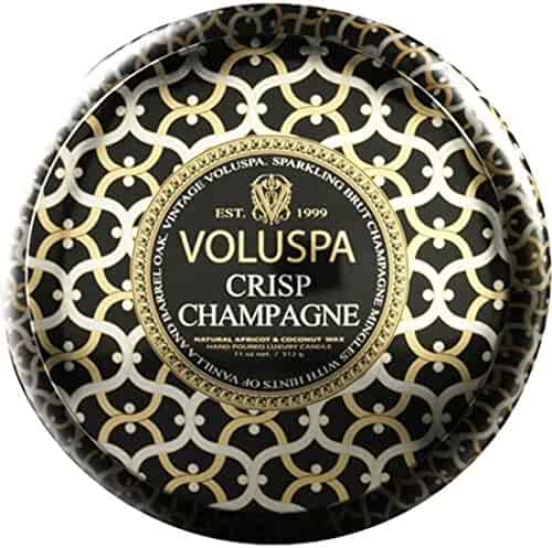 Voluspa 2 Wick Maison Metallo Candle - Crisp Champagne