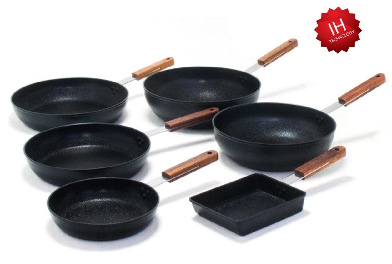 kitchen-artセラミックコーティングIHアルミフライパン6点セット   B07DRLLP8W