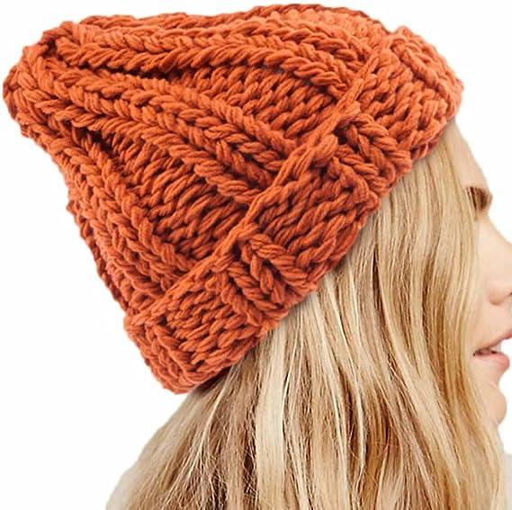 MXJEEIO Gorros de Punto Sombreros y Gorras Crochet Las Mujeres del ...