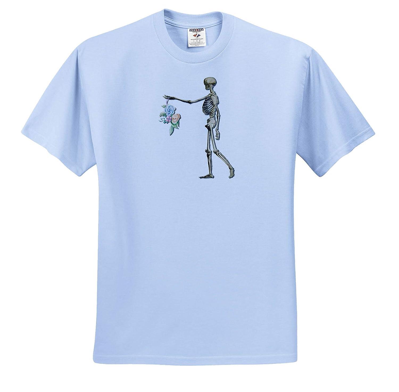 Skeleton Flowers 3dRose Made in The Highlands Vector Skeleton offering Flowers T-Shirts
