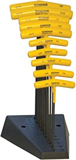 product image for Bondhus 15390 9-Inch Length, Hex T-Handles with Stand, 3/32-to-3/8-Inch Sizes, 10 Piece Set