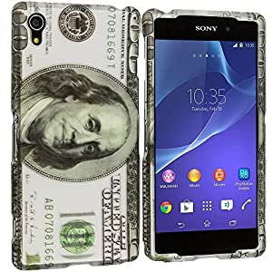 Accessory Planet(TM) Hundred Dollars 2D Hard Snap-On Design Rubberized Case Cover Accessory for Sony Xperia Z2