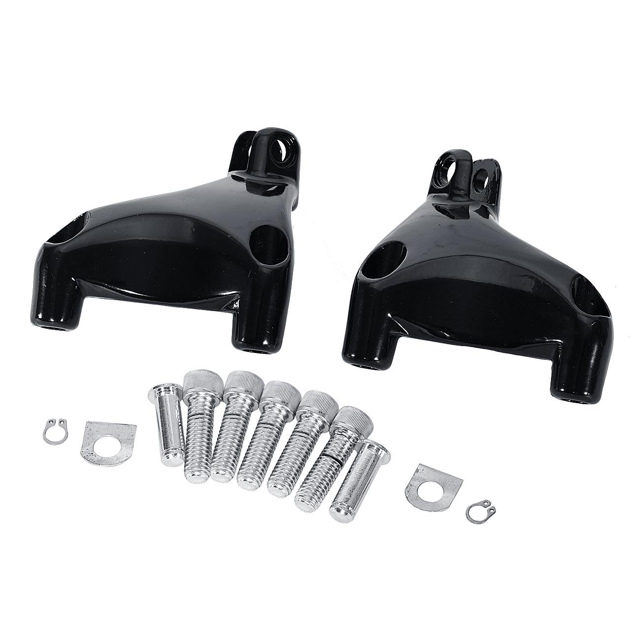 INNOGLOW Motorcycle Footrest Footboards Footpegs kit Fit For Harley Davidson Sportster XL 883//1200 Super Low Iron 883 Forty Eight XL1200X Seventy Two XL1200V