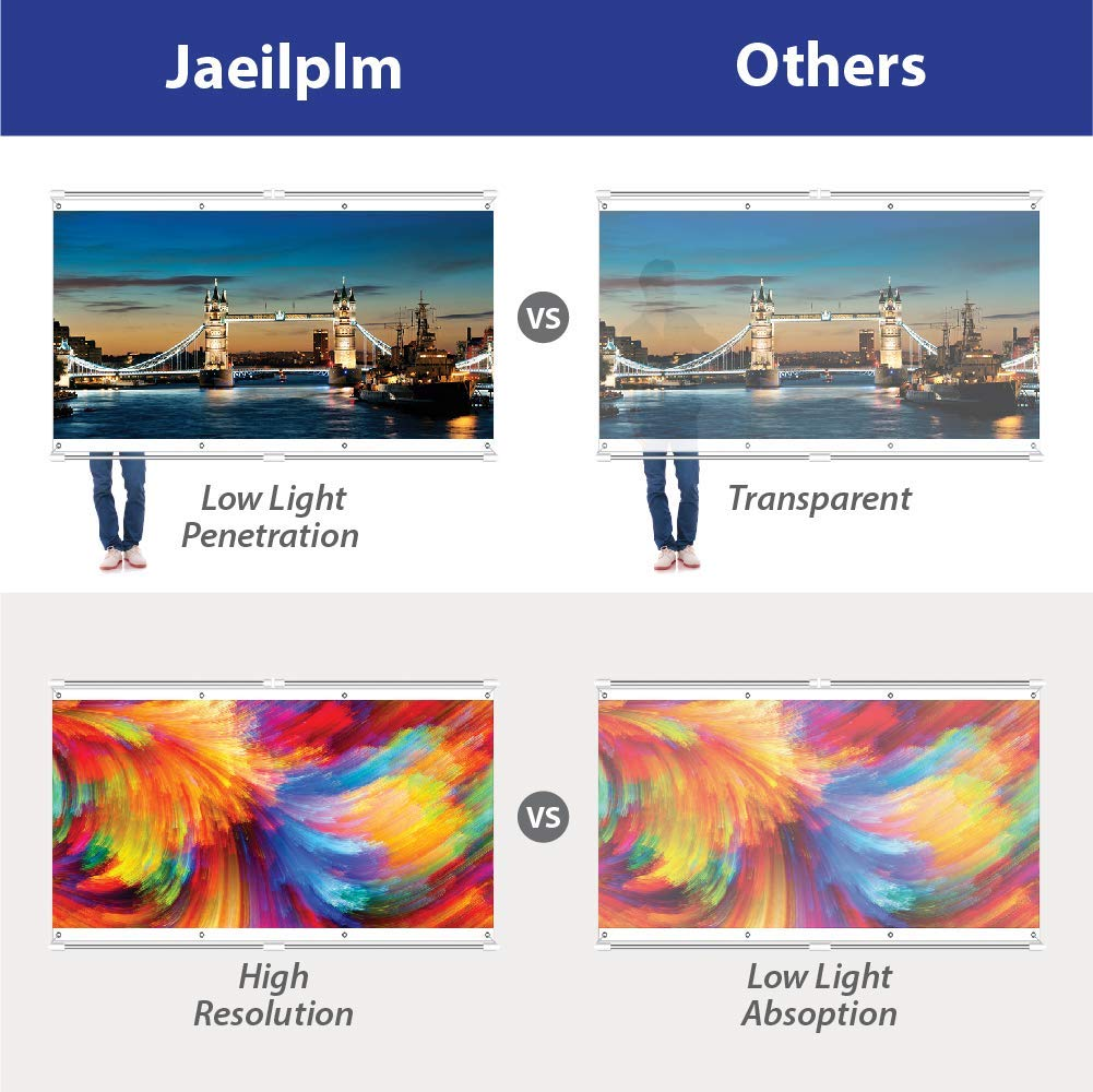 JaeilPLM 80-Inch 2-in-1 Portable Projector Screen Outdoor & Indoor Compatible Instant Wrinkle-Free with Triangle Stand or Hanging Design Movie Projection for Home Theater, Gaming, Office by JaeilPLM (Image #7)