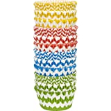 Wilton 415-2875 300 Count Chevron Pattern Baking Cups Value Pack, Assorted