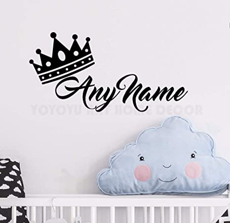 Cualquier Nombre Personalizado Princesa de la etiqueta de la pared 3D Art Stickers Vinyl Habitación Dormitorio