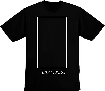 Emptiness Empty Square Box Minimal Mens T-Shirt Extra Large White