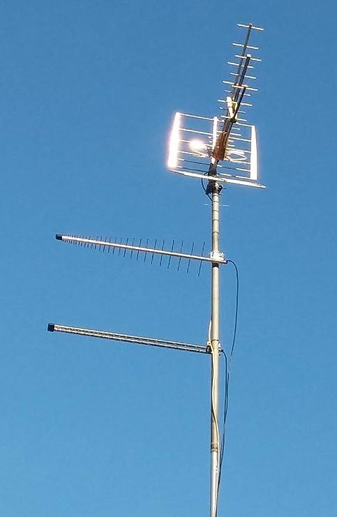 Antenna 4G LTE + Wi-Fi LOG Yagi Mimo 11dBi 700/800/900/1800/2100/2400/2600 MHz LowcostMobile Duo 2x10m SMA cavo nero WL240 per Huawei B525, B528, B593, ...