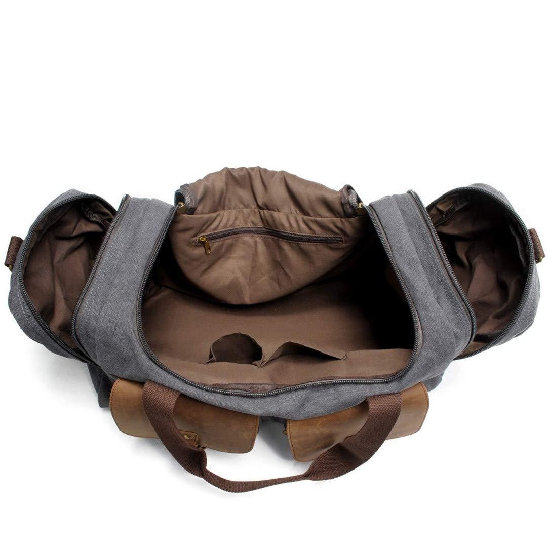 Travel Bag Large Capacity Men H Luggage Travel Bags Canvas Weekend Bags Multifunctional Travel Shoulder Bags Coffee