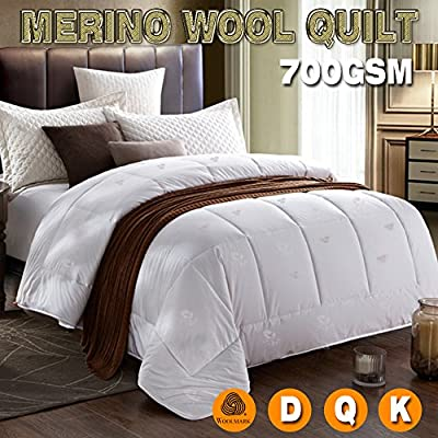 Australian Made 100/% Merino Wool Quilt Doona 350gsm DOUBLE Bed Size Light Weight