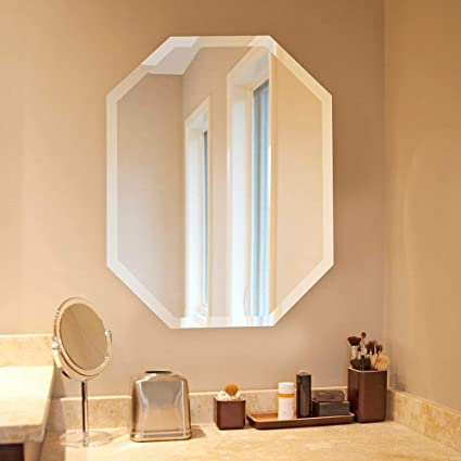 Amazon Com Silver Wall Octagon Mirror Octagonal Shape Hanging
