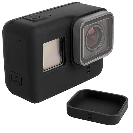 Funda Protectora para GoPro Hero 5 6 Sport Cámara con Tapa de Objetivo, FineGood Soft Cubiertas de Silicona para Cámara de Acción y Lente Hero5 Hero6 ...