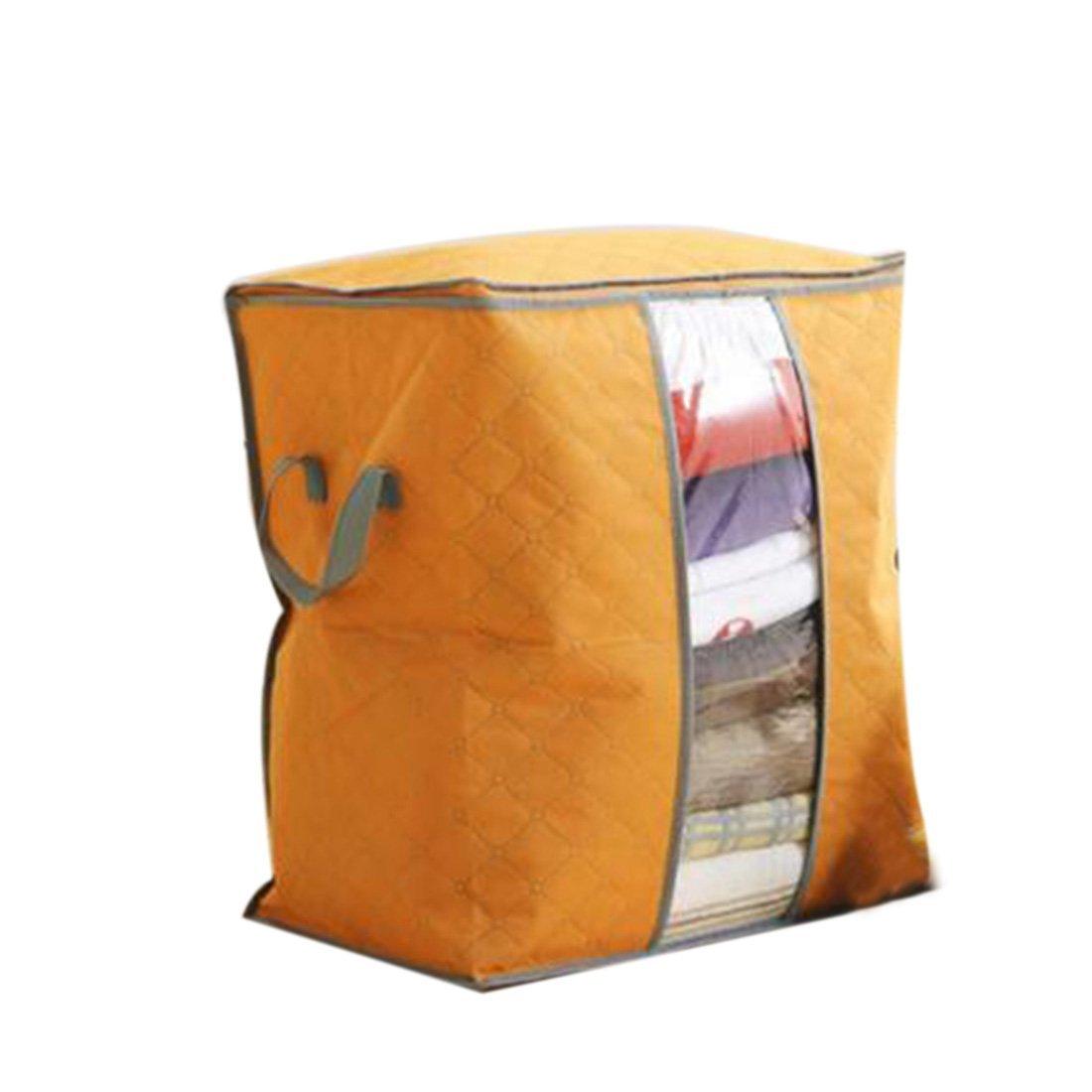 2016 Hot Sale Storage Bag Box Portable Organizer Non Woven Underbed Pouch Storage Box Bamboo Clothing Storage Bag