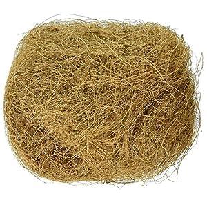 Bristo Sterilized Natural Coconut Fiber for Bird and Small Animal Nesting, 250 g