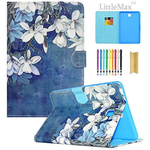Galaxy Tab A 8.0 inch Case,LittleMax(TM) Ultra Slim Lightweight Thin PU Leather Stand Flip Case Cover Auto Sleep/Wake Samsung Galaxy Tab A 8.0'' SM-T350-02 White Floral by LittleMax (Image #8)