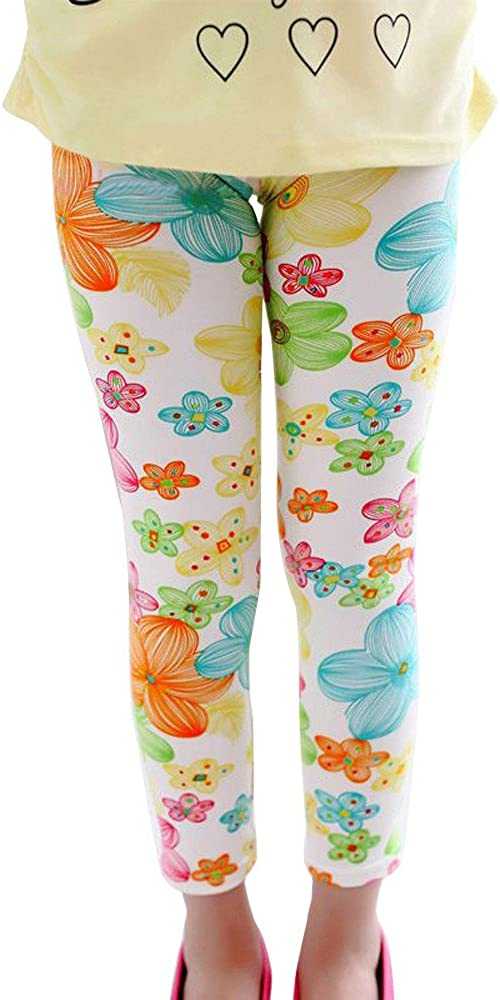 For 3-13 Ages Kids Girls BURFLY Baby Floral Print Pencil Pants Leggings