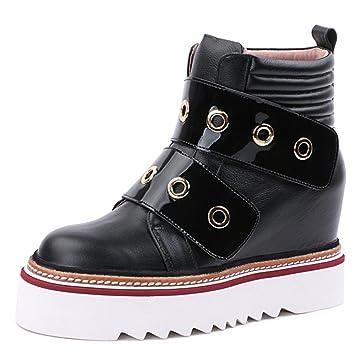 Botas de mujer Aumento de las botas femeninas Velcro en las botas 8068FD , black ,