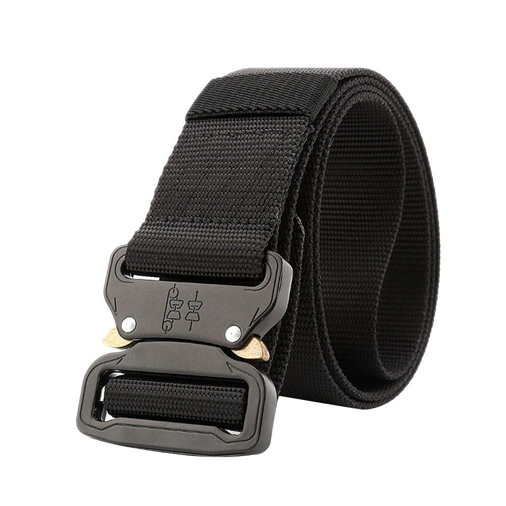 LUOEM Stretch Belt Quick Knockdown Tactical Belt for Outdoor Sports Training (Black)