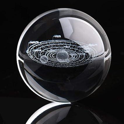 Haihuic Sistema Solar 3D Crystal Ball 60mm Claro Modelo ...