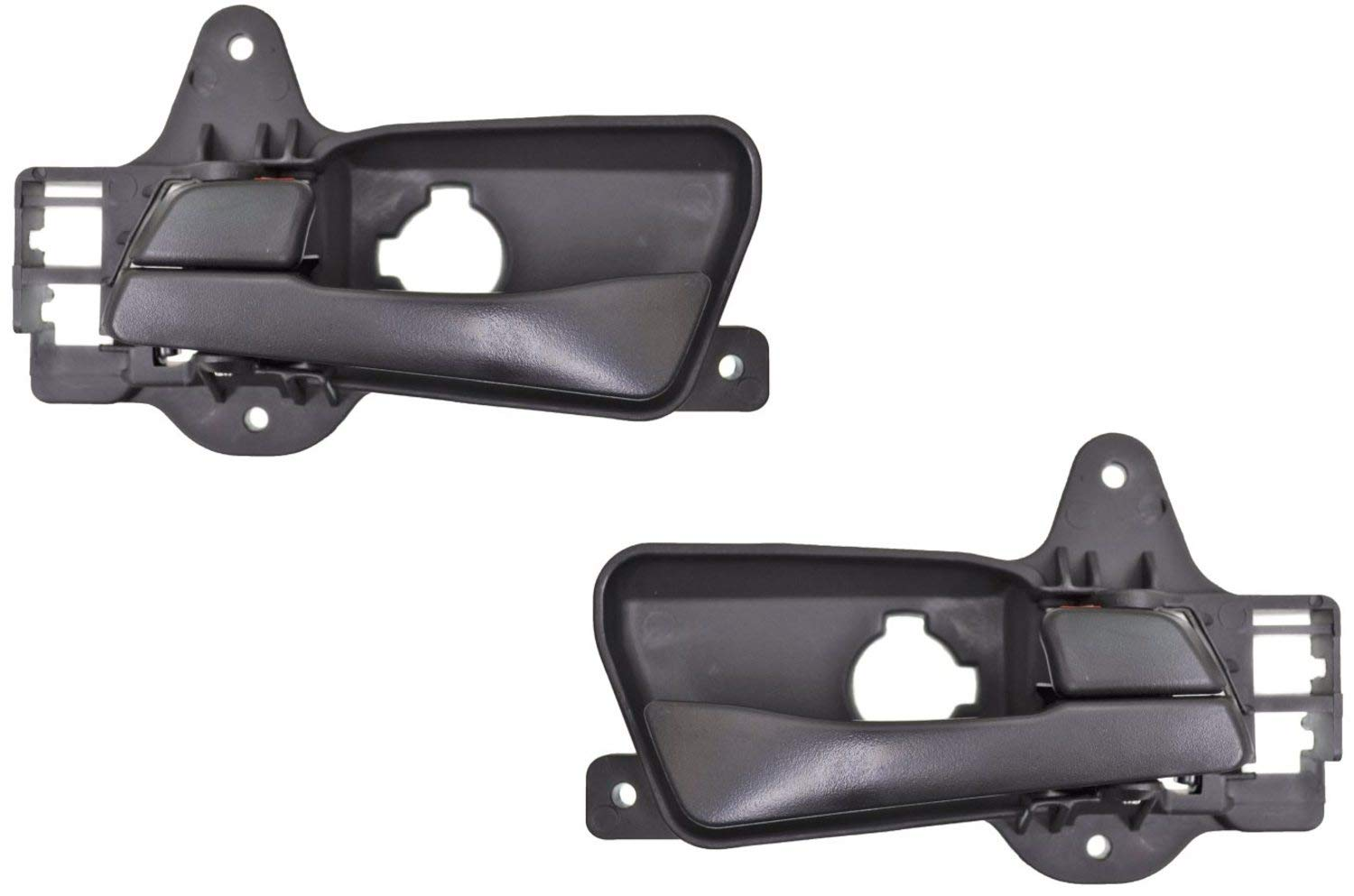 PT Auto Warehouse HY-2130A-RP for Hatchback ONLY Black Rear Left//Right Pair Interior Inner Inside Door Handle