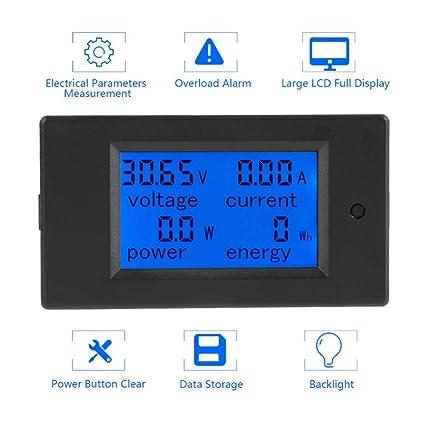 Akozon Peacefair Pzem 051 Lcd Display Dc 6 5 100 V Digital Electric Power Energy Spannung Stromzähler Power Energy Battery Monitor Stromstärke Meteranzeige Mit Integriertem Shunt 50a Splitter Gewerbe Industrie Wissenschaft