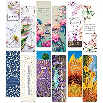 Amazon com : Christian Bookmarks Cards with Popular Inspirational