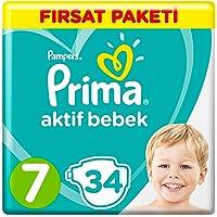 Prima Bebek Bezi Aktif Bebek 7 Beden XX Large Fırsat Paketi, 34 Adet