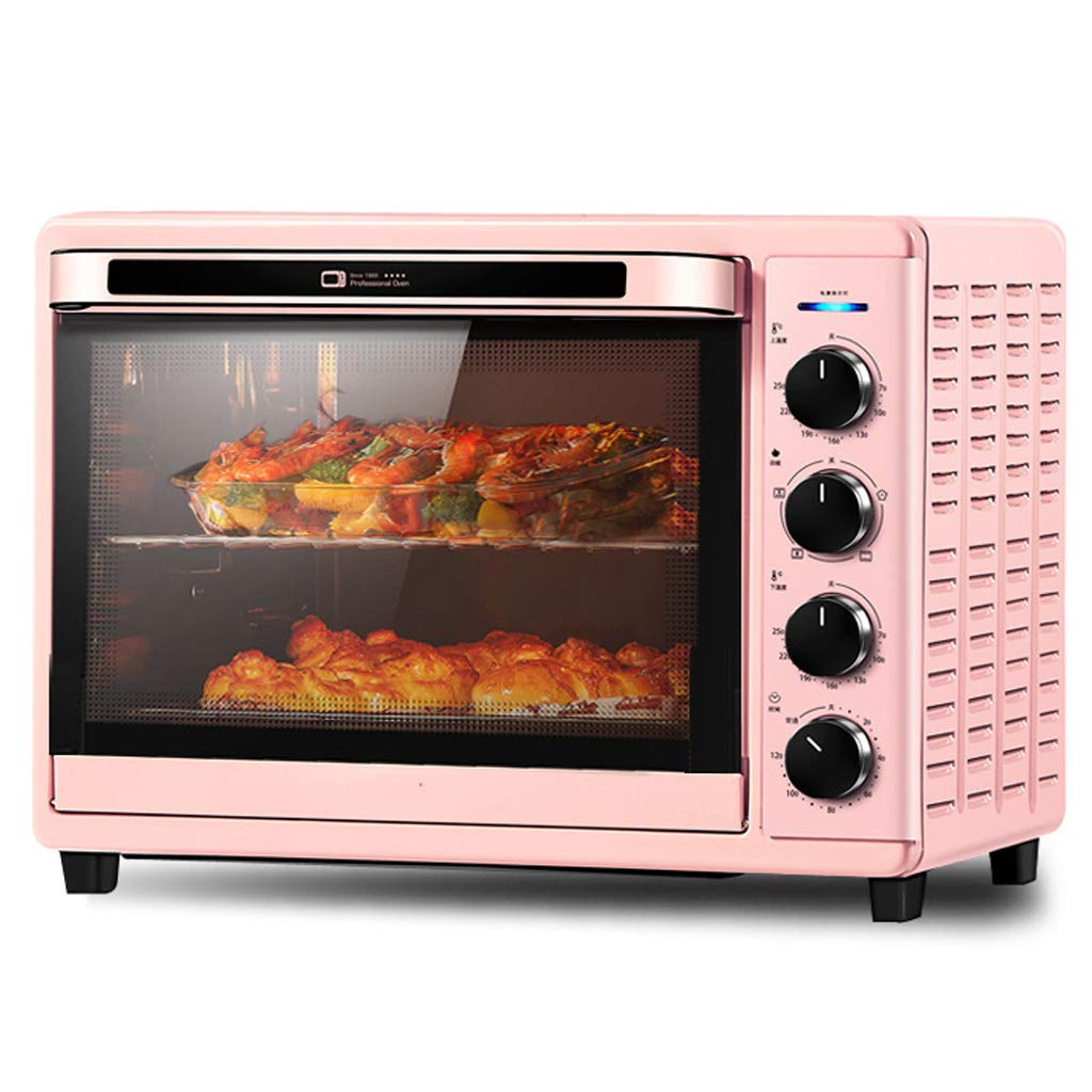 Automatic Intelligent Electric Oven 32l,Grilling And Baking,One-Button Fermentation And 120 Minute Timing Function,Adjustable Temperature,Pink 1600w